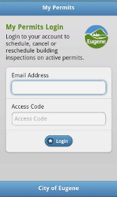 Mobile Version of MyPermits